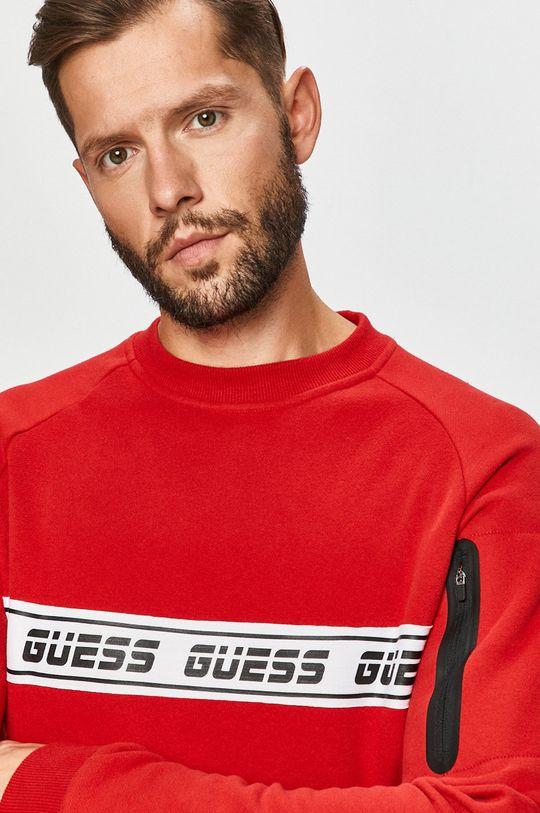 červená Guess Jeans - Mikina