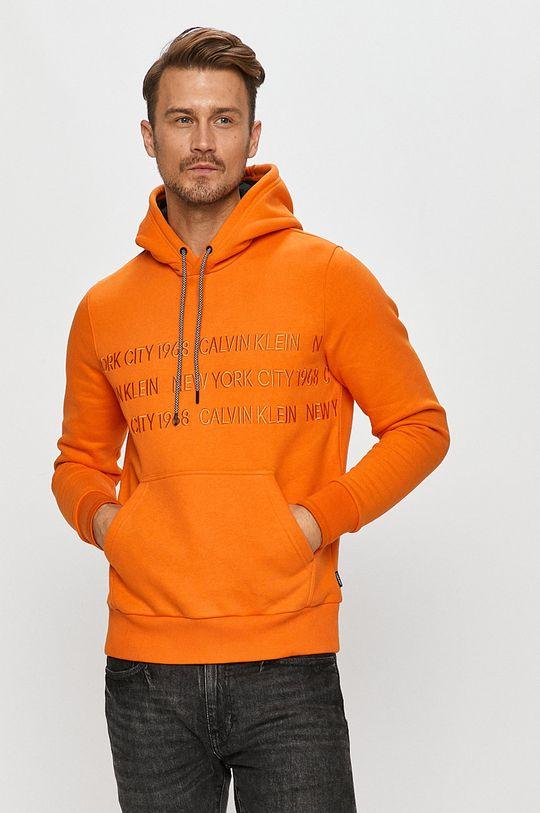 oranžová Calvin Klein - Mikina Pánsky