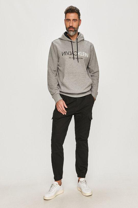 Calvin Klein - Bavlněná mikina šedá