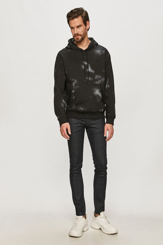 Calvin Klein Jeans - Bluza bawełniana czarny