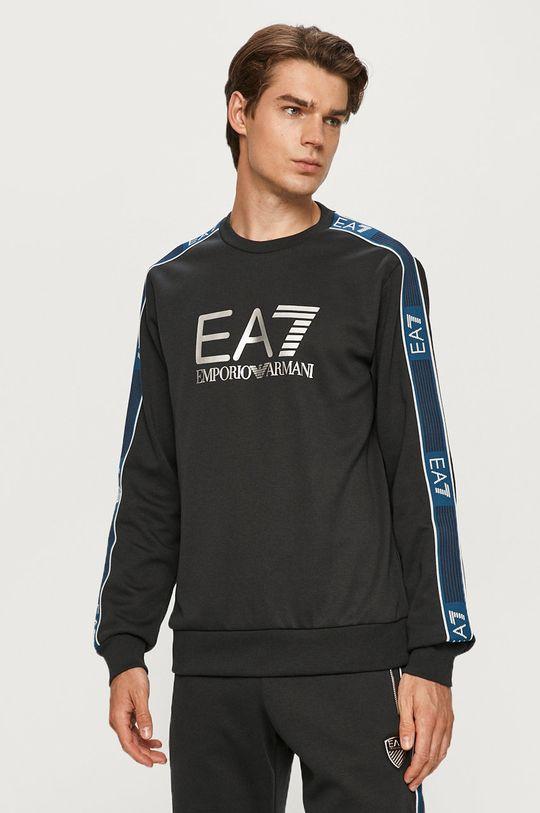 granatowy EA7 Emporio Armani - Bluza Męski