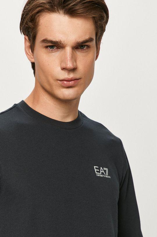 tmavomodrá EA7 Emporio Armani - Tričko s dlhým rukávom