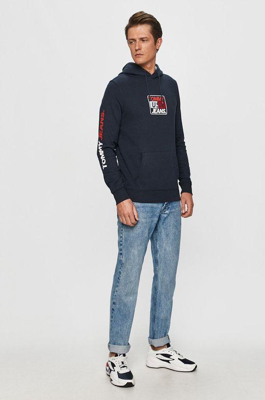 Tommy Jeans - Bluza bawełniana granatowy