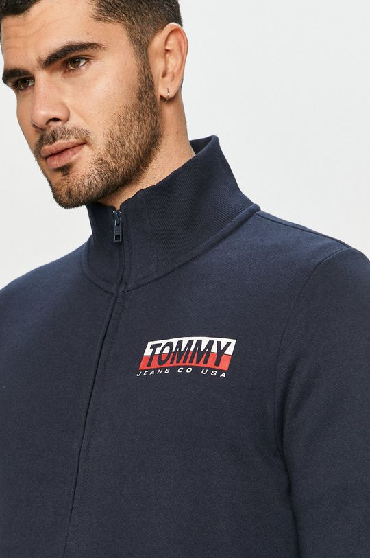 tmavomodrá Tommy Jeans - Bavlnená mikina