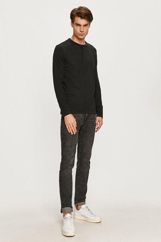 Selected - Tričko s dlhým rukávom čierna