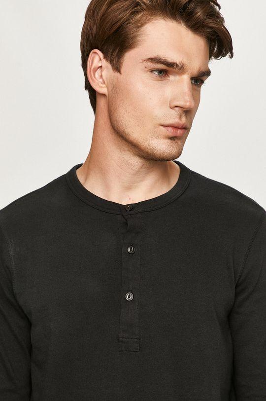 čierna Selected - Tričko s dlhým rukávom