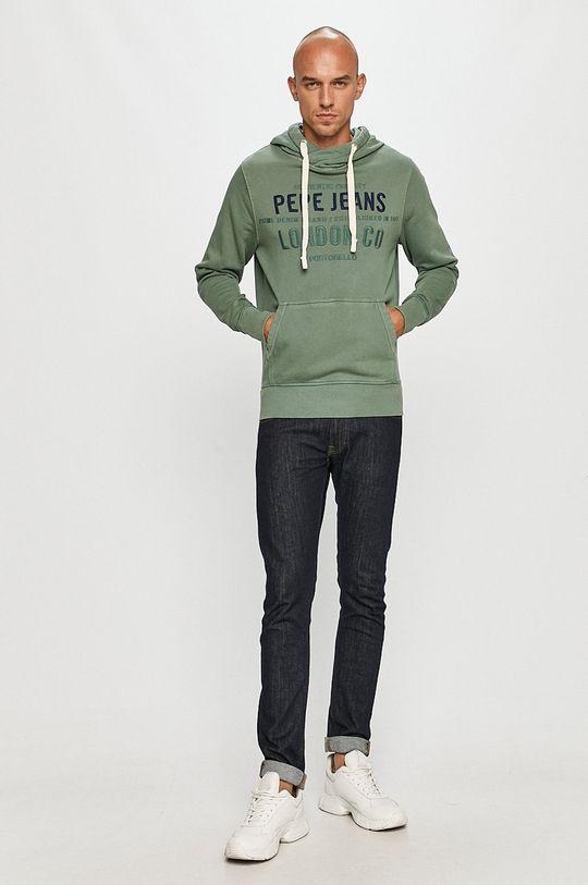 Pepe Jeans - Hanorac de bumbac Neville verde