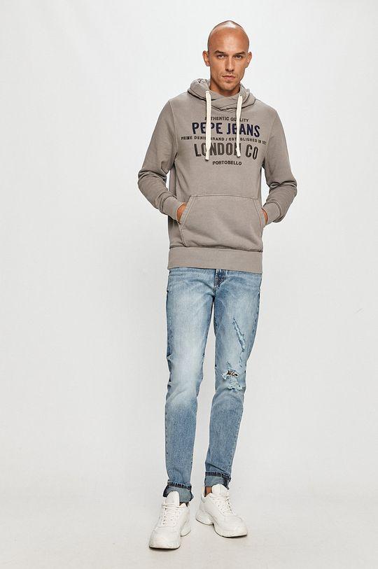 Pepe Jeans - Bavlněná mikina Neville šedá