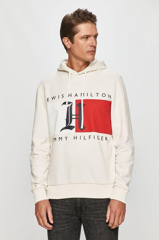 alb Tommy Hilfiger - Bluza x Lewis Hamilton De bărbați