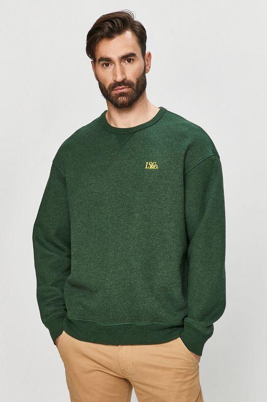 zielony Levi's - Bluza bawełniana Męski