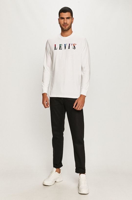 Levi's - Tričko s dlouhým rukávem bílá