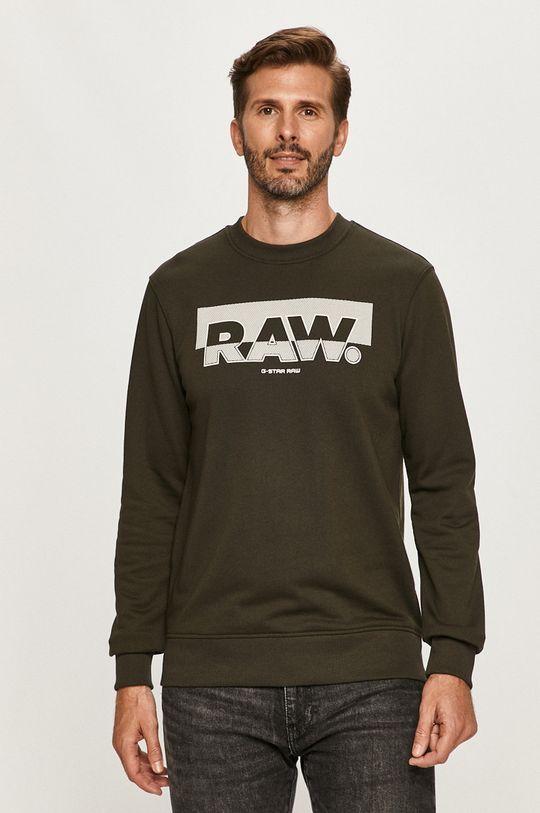 brudny zielony G-Star Raw - Bluza Męski