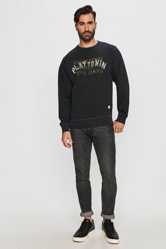 Pepe Jeans - Bluza bawełniana Rufus czarny