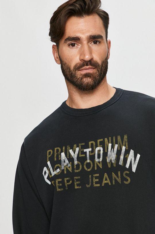 czarny Pepe Jeans - Bluza bawełniana Rufus