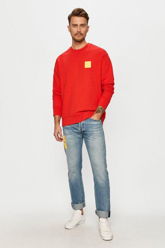 Levi's - Bavlnená mikina x Lego červená