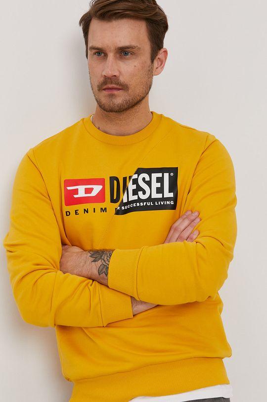 pomarańczowy Diesel - Bluza Męski