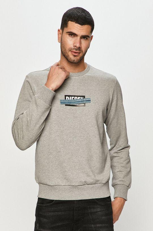 szary Diesel - Bluza bawełniana Męski