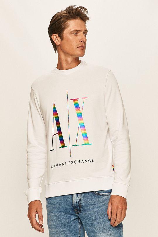 biały Armani Exchange - Bluza Męski