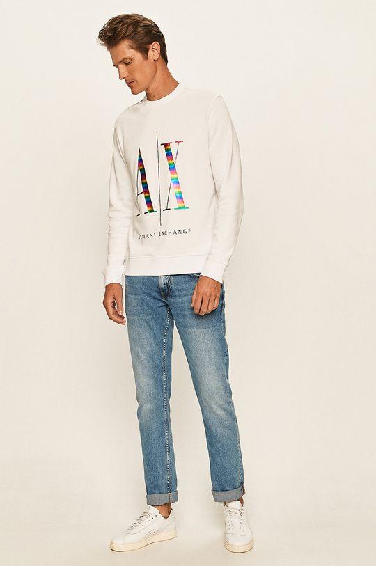 Armani Exchange - Bluza biały