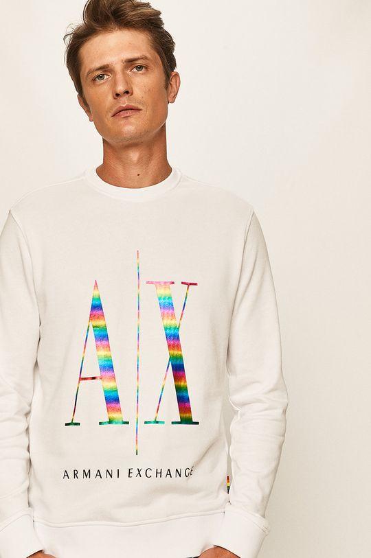 biały Armani Exchange - Bluza