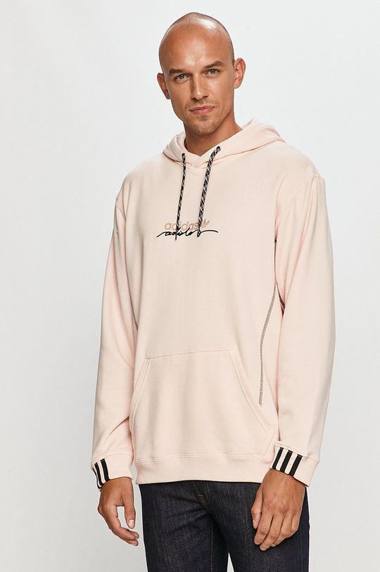 ružová adidas Originals - Bavlnená mikina Pánsky