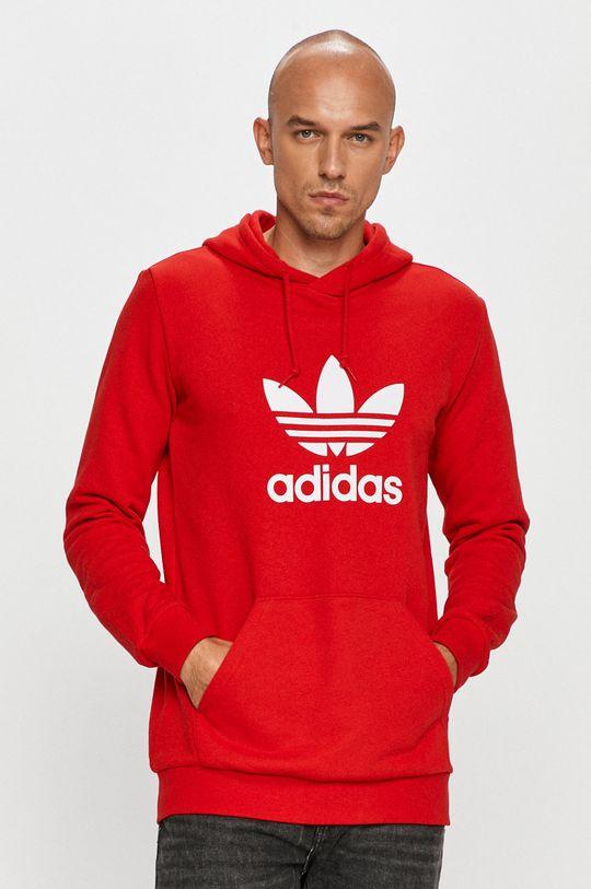 rosu adidas Originals - Hanorac de bumbac De bărbați
