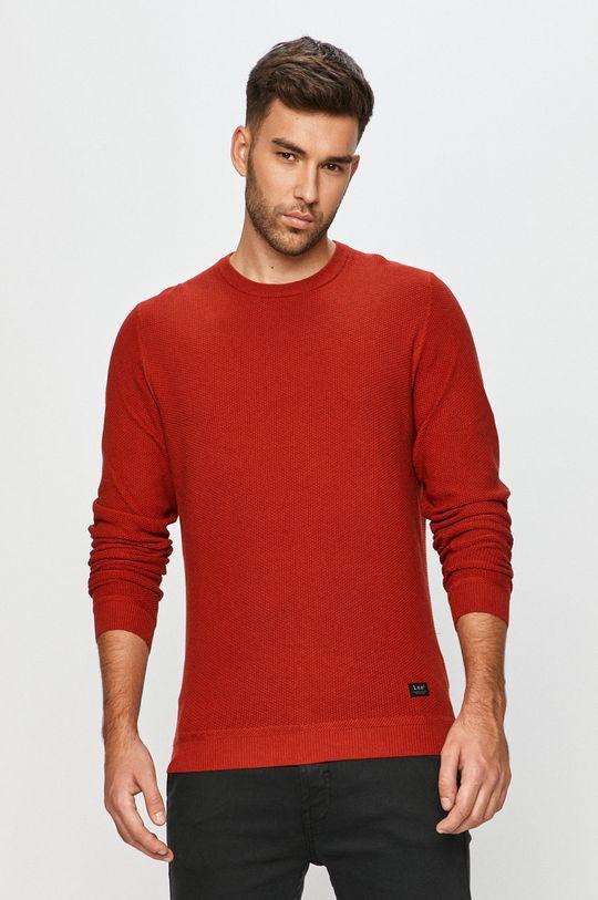 czerwony Lee - Sweter Męski