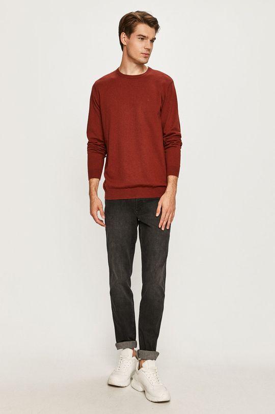Wrangler - Sweter kasztanowy