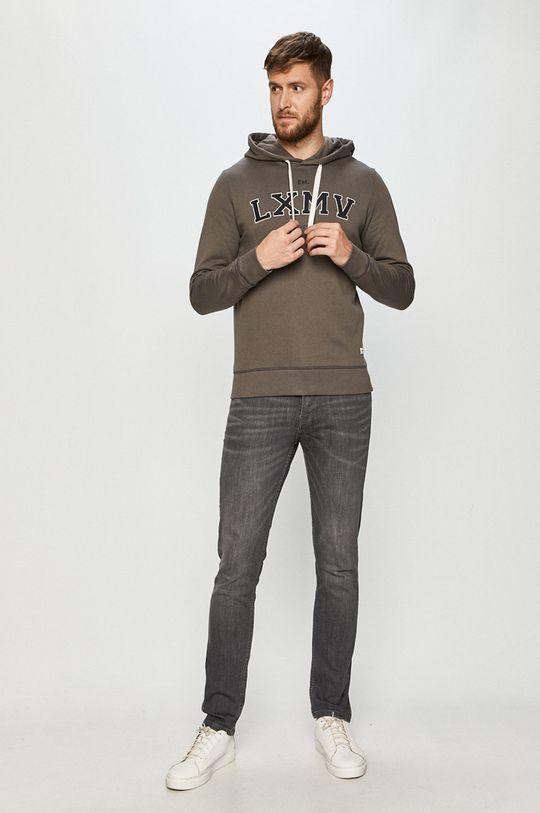 Produkt by Jack & Jones - Bluza bawełniana grafitowy
