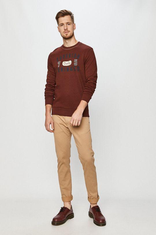 Produkt by Jack & Jones - Bluza bawełniana mahoniowy