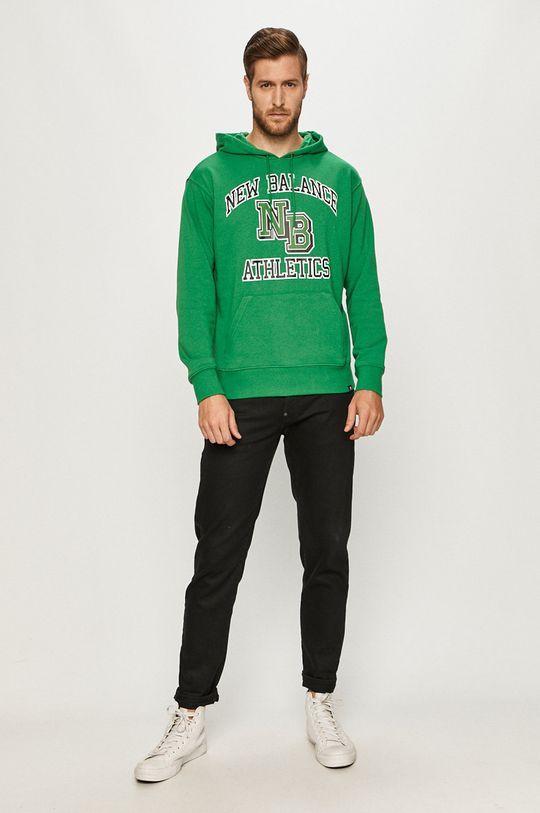 New Balance - Bluza verde