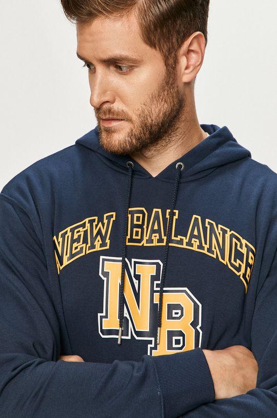 námořnická modř New Balance - Mikina Pánský