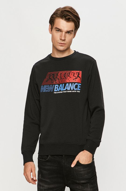 černá New Balance - Mikina Pánský