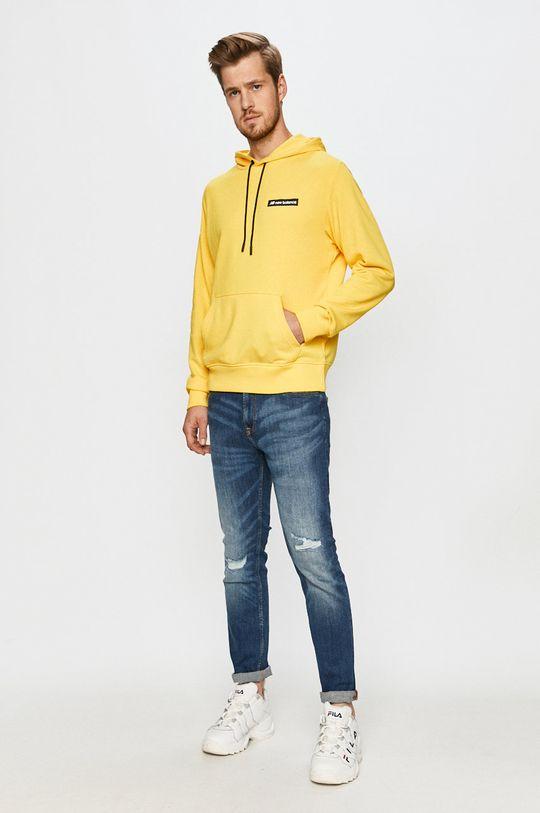 New Balance - Bluza żółty