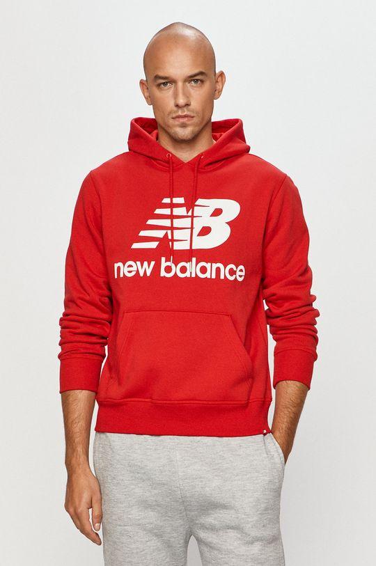 červená New Balance - Mikina Pánský