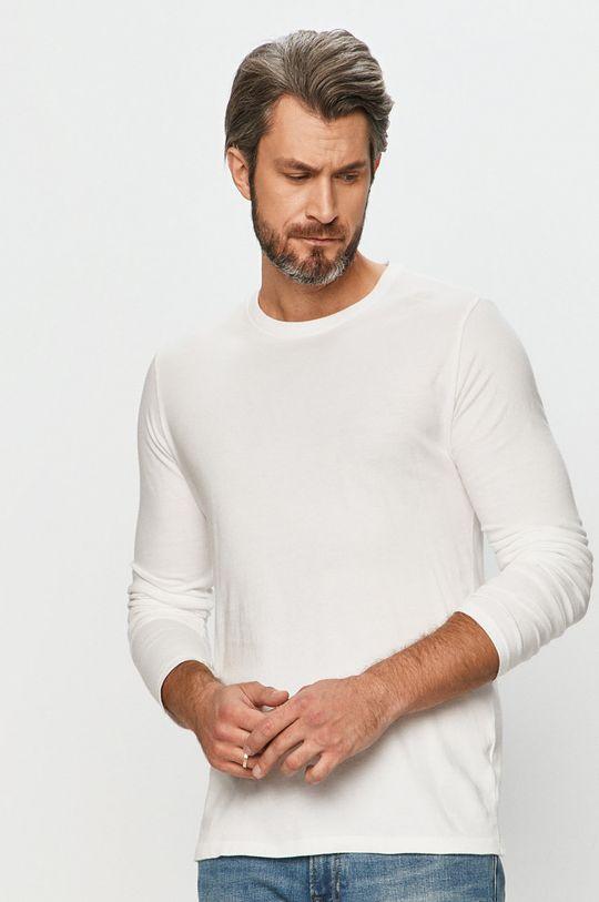 bílá GAP - Tričko s dlouhým rukávem Pánský