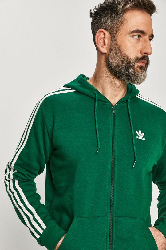 verde inchis adidas Originals - Hanorac de bumbac De bărbați