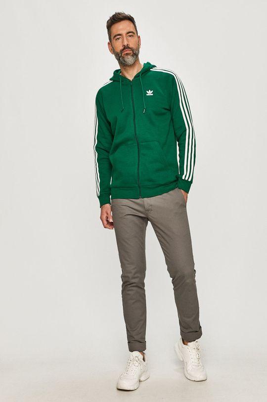 adidas Originals - Hanorac de bumbac verde inchis