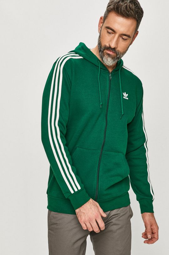 verde inchis adidas Originals - Hanorac de bumbac