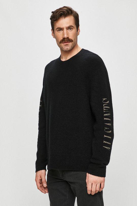 negru AllSaints - Pulover De bărbați