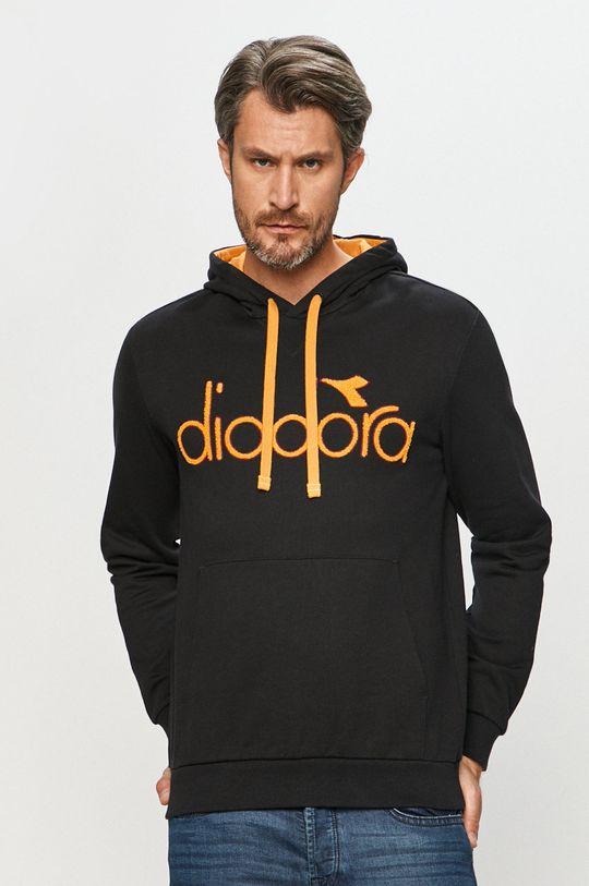 czarny Diadora - Bluza bawełniana Męski
