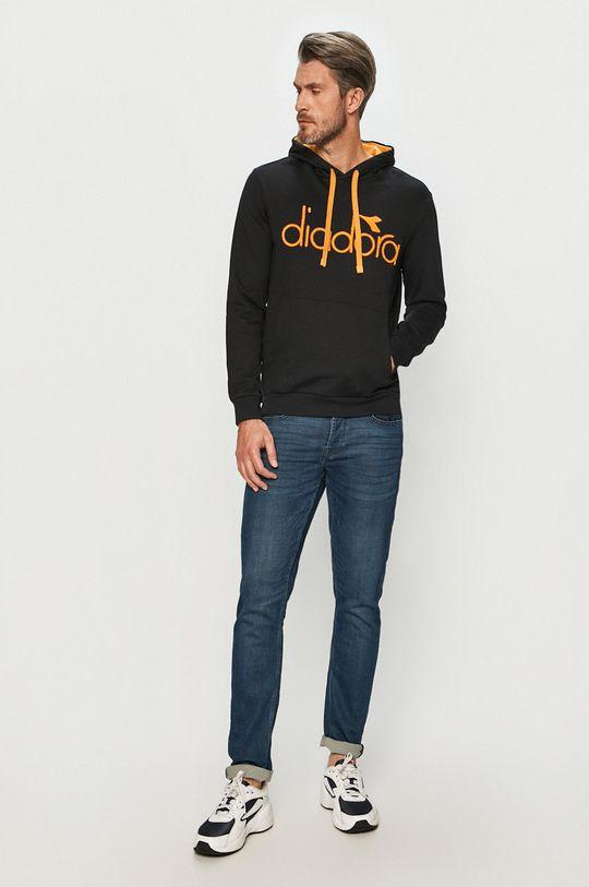 Diadora - Bluza bawełniana czarny