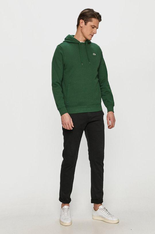 Lacoste - Bluza ciemny zielony