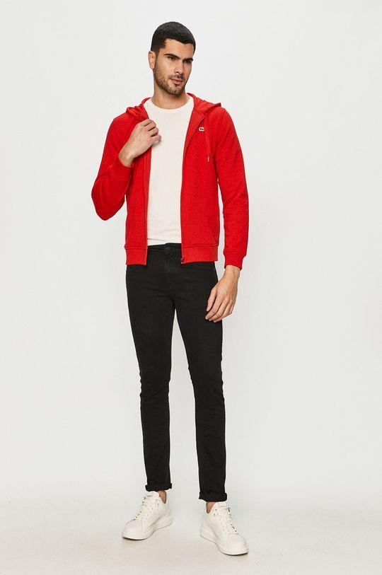Lacoste - Mikina červená