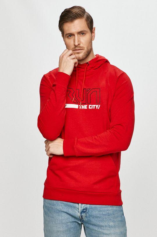 czerwony 4F - Bluza H4Z20.BLM017 Męski