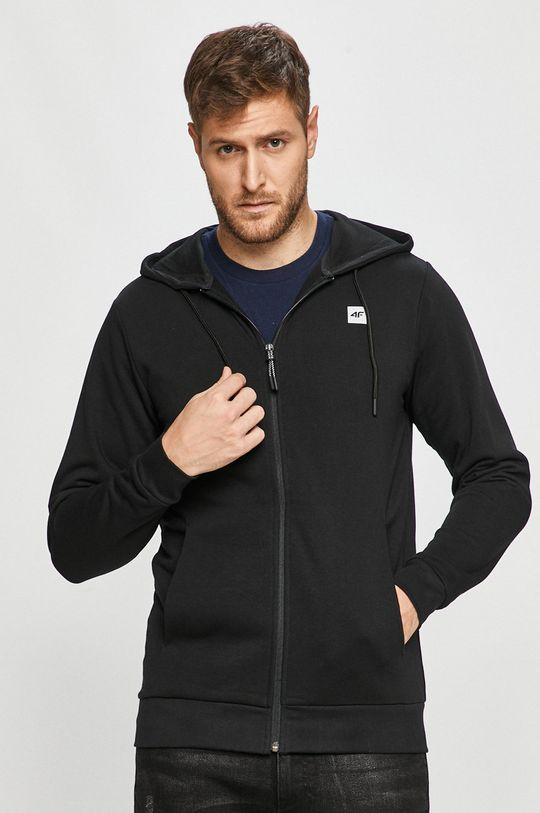 czarny 4F - Bluza Męski