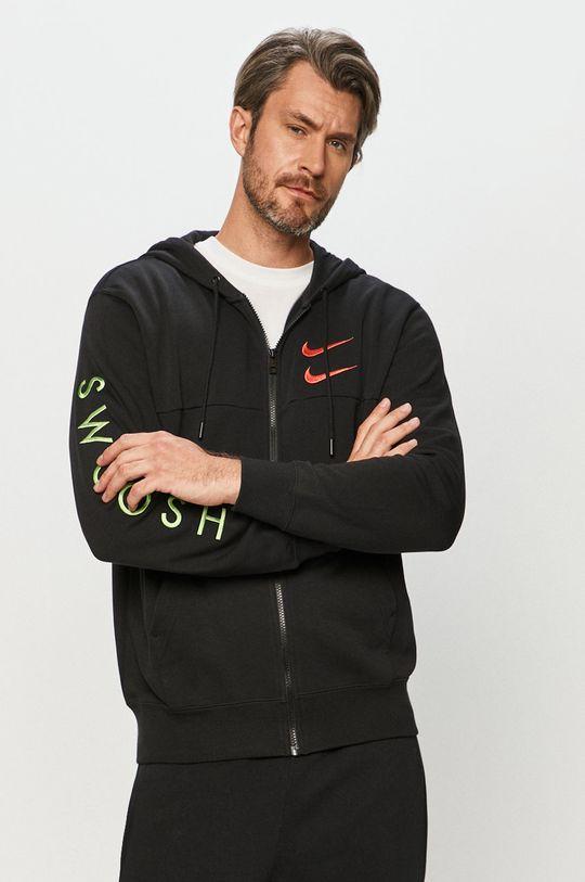 čierna Nike Sportswear - Mikina Pánsky