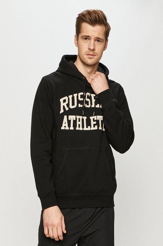 czarny Russell Athletic - Bluza bawełniana Męski