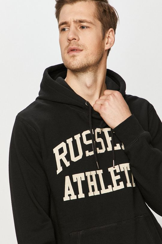 czarny Russell Athletic - Bluza bawełniana