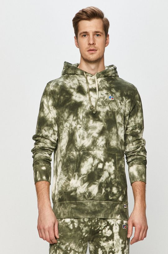 verde murdar Russell Athletic - Hanorac de bumbac De bărbați